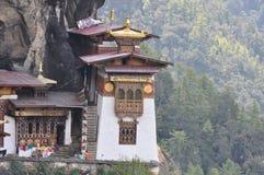 Le nid du tigre donnant sur la vallée de Paro, Bhutan images libres de droits