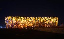 Le nid/Stade Olympique de l'oiseau photographie stock