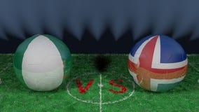 Le Nigéria contre l'Islande Coupe du monde 2018 de la FIFA Image 3D originale Images libres de droits