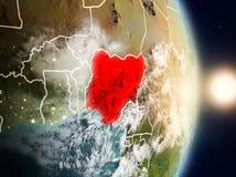 Le Nigéria pendant le lever de soleil Photos libres de droits