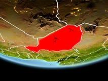 Le Niger en rouge le soir Photos stock