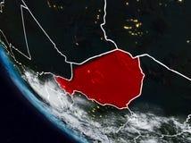 Le Niger la nuit de l'espace illustration stock