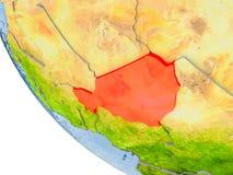 Le Niger sur le globe Photo libre de droits