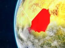 Le Niger sur le globe de l'espace illustration de vecteur