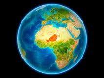 Le Niger sur terre de l'espace illustration de vecteur
