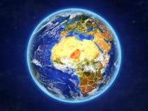 Le Niger sur terre de l'espace illustration libre de droits