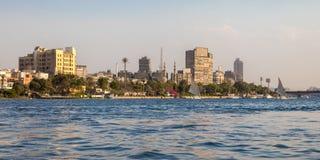 Le Nil au coeur du Caire, Egypte photo stock
