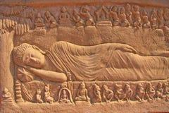 Le Nirvâna de Bouddha Photos libres de droits