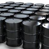Le noir barrels le fond Photo libre de droits