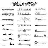 Le noir de griffonnage de Halloween raye et des rayures de vecteur de croquis de dessin de carte blanche illustration stock