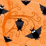 Le noir de Halloween manie la batte le modèle sans couture Photo stock