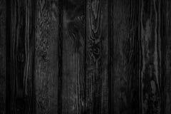 Le noir en bois lambrisse le fond photographie stock libre de droits