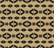 Le noir et l'or dirigent le modèle sans couture géométrique, losanges, triangles, lignes illustration libre de droits