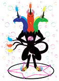 Le noir trois a dirigé le magicien de licorne Image libre de droits