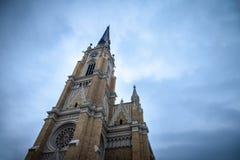 Le nom de Mary Church, également connu sous le nom de cathédrale de catholique de Novi Sad Cette cathédrale est l'un des points d Photo libre de droits