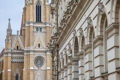 Le nom de Mary Church, également connu sous le nom de cathédrale de catholique de Novi Sad Cette cathédrale est l'un des points d Photos libres de droits