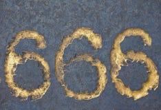 Le nombre de la bête 666 photo stock