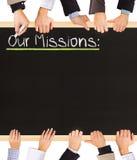 Le nostre missioni Fotografie Stock