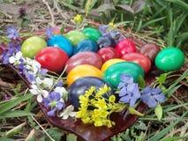 Le nostre uova di Pasqua nel 2015 fotografie stock libere da diritti