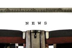 Le notizie di parola Immagini Stock Libere da Diritti