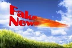 Le notizie false Fotografia Stock