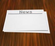 Le notizie paginano sulla Tabella fotografie stock