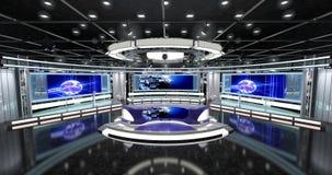 Le notizie virtuali della TV hanno messo 1 Fotografia Stock Libera da Diritti