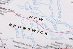 Le Nouveau Brunswick sur la carte politique Photographie stock