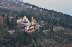 Le nouveau monastère d'Athos Photographie stock libre de droits
