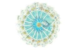Le nouveau polymère BRITANNIQUE note de cinq livres et les nouveaux 12 a dégrossi la pièce de monnaie £1 Photos stock
