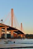 Le nouveau pont de Mann de port photos libres de droits
