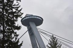 Le nouveau pont (Novy plus) au-dessus de la rivière Danube à Bratislava, Slovaquie Photo libre de droits