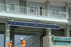 Le nouveau signe chez Hammond Stadium Images libres de droits