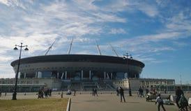Le nouveau stade sur le ` de Krestovsky Ostrov, ` d'arène de St Petersburg - l'arène à la maison de l'équipe Zenit photo stock