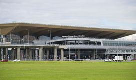 Le nouveau terminal de l'aéroport de Pulkovo St Petersburg Photographie stock libre de droits