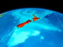 Le Nouvelle-Zélande en rouge Images libres de droits