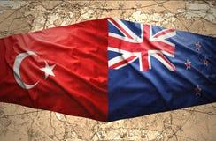 Le Nouvelle-Zélande et la Turquie Image stock