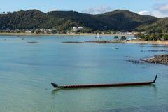 Le Nouvelle-Zélande Maori Waka Long Canoe photos stock