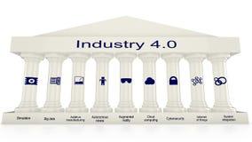 Le nove colonne di industria 4 Fotografia Stock Libera da Diritti