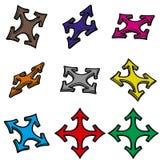 Nove frecce 3d Immagini Stock Libere da Diritti