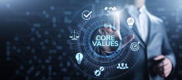 Le noyau évalue le concept moral d'affaires de compagnie de responsabilité image stock