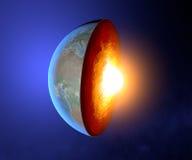 Le noyau terrestre, la terre, monde, fente, géophysique illustration libre de droits