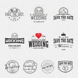 Le nozze badges le carte e le etichette per c'è ne uso royalty illustrazione gratis