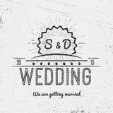 Le nozze badges le carte e le etichette per c'è ne uso Fotografia Stock
