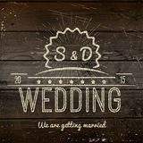 Le nozze badges le carte e le etichette per c'è ne uso illustrazione vettoriale