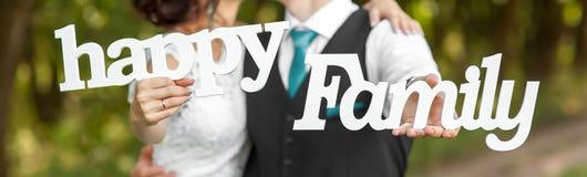 Le nozze esprimono l'amore Fotografie Stock Libere da Diritti