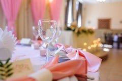 Le nozze hanno decorato la tavola Fotografia Stock