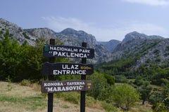 Le NP Paklenica Image libre de droits