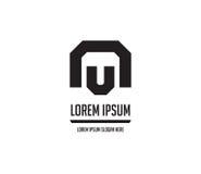 Le NU Logo Monogram Design Photos libres de droits