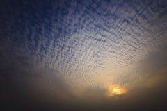 le nuage aime la plume Photographie stock